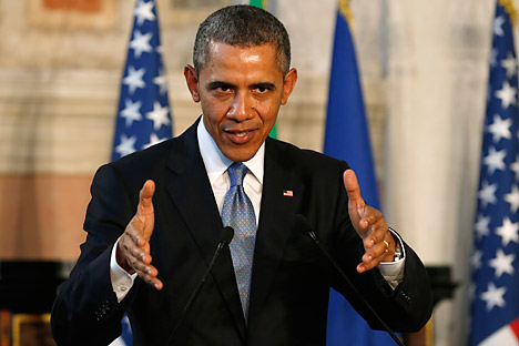 "Obama: ""Europe needs to look at how it can further diversify its energy sources."" Source: Reuters"