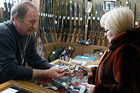 According to public opinion polls taken last year, 74 percent of Russians oppose the right to bear arms. Source: ITAR-TASS