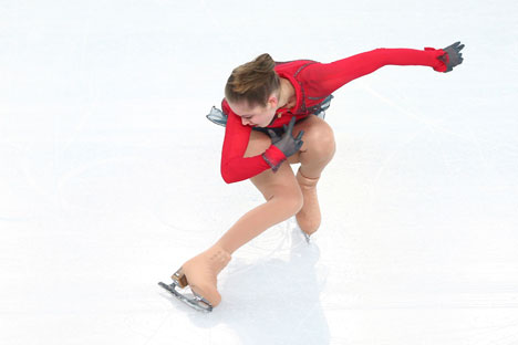 15-year-old Yulia Lipnitskaya won silver at the World Figure Skating Championships in Japan. Source: Getty Images / Fotobank