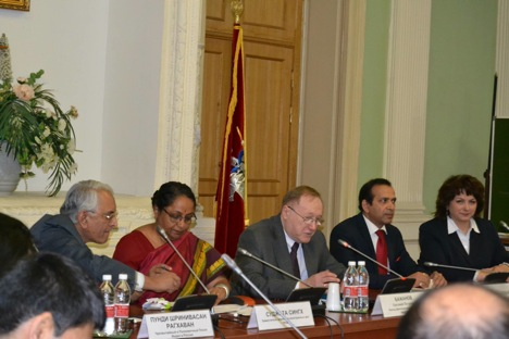 At the consultations Sujatha Singh had detailed discussions on a variety of matters of bilateral and international interest. Source: Embassy of India in Moscow