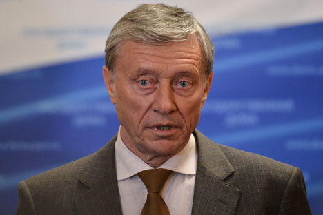 Nikolai Bordyuzha underlined that drug trafficking fight was priority for CSTO member-states. Source: RIA Novosti