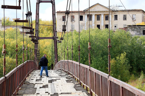A bridge in the outskirts of Vorkuta. Source: Sergey Zajtsev / RIA Novosti