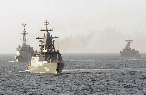 The Indra-2014 joint naval exercises e held in the Sea of Japan in mid-July. Source: mil.ru