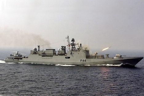 The Indian Navy's INS Talwar. Source: AP