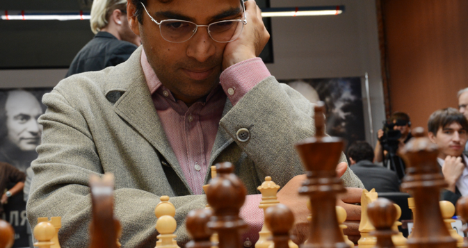 Anand will compete for the World Championship in November. Source: Vladimir Vyatkin / RIA Novosti