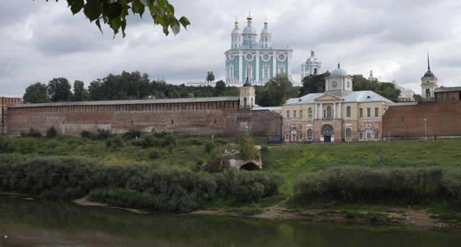 Smolensk is situated on the banks of the upper Dnieper River. Source: Ilya Pitalev / RIA Novosti