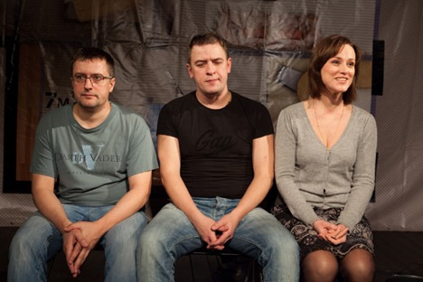 'Dvoye v tvoem dome' (Two in Your House) is among Teatr.doc best know productions. Source: Polina Korolyova / Teatr.doc