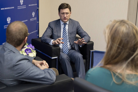 "Alexander Novak: ""Without Russian energy resources Europe will not be able to provide for itself."" Source: Sergei Kuksin / Rossiyskaya gazeta"
