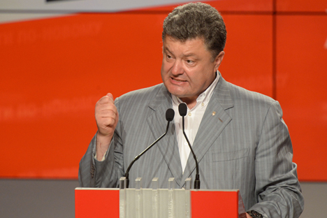 """Petro Poroshenko: """"The regions will have significantly greater power than the Russian federal subjects after I decentralize the country"""". Source: Mikhail Voskresensky / RIA Novosti"""