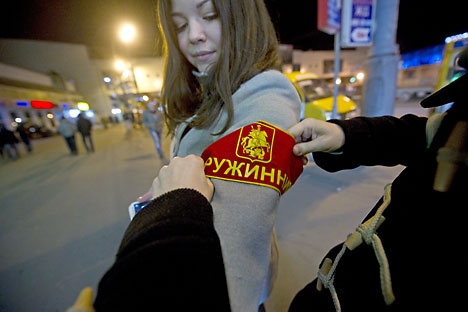 In Moscow today, there are already about 20,000 members of the People's Guard. Source: Kirill Kalinnikov / RIA Novosti