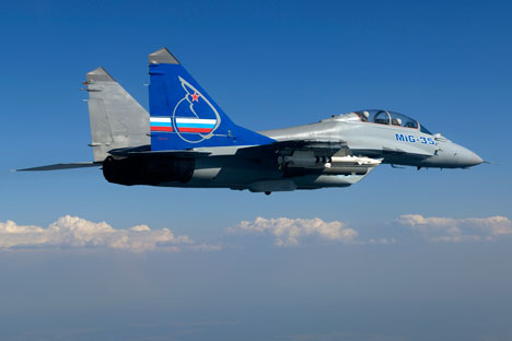 The MiG-35 is based on the MiG-29 and is almost identical to it externally. Source: MiG Avia