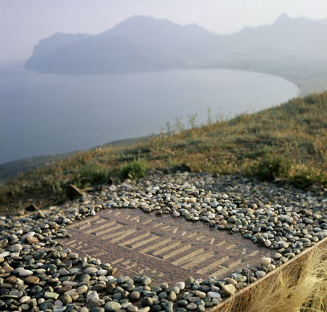 Grave stone of Voloshin in Koktebel, Crimea. Source: RIA Novosti