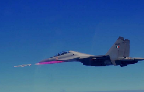 Astra's successful launch from the Su-30 combat aircraft is a major step in missile aircraft integration. Source: DRDO