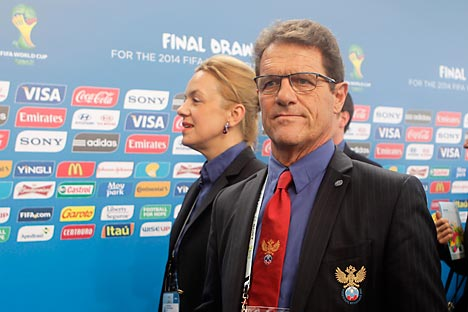 Fabio Capello is preparing Russia for the 2014 World Cup. Source: AP