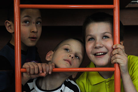 In Russia there are some 560,000 social orphans whose biological parents are living but cannot care for them. Source: ITAR-TASS