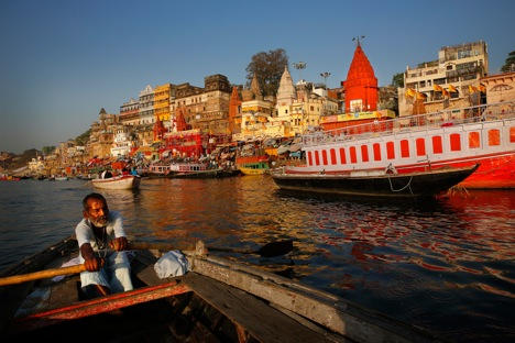 Narendra Modi has prioritised the cleaning of the Ganga. Source: AP