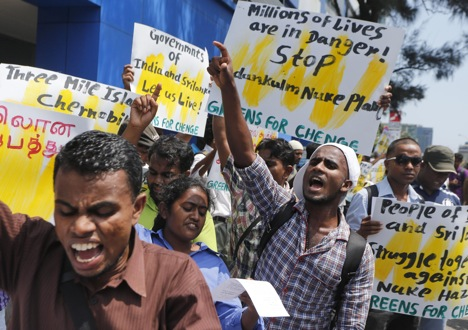 Protesters at the Kudankulam plant were on the payroll of foreign NGOs. Source: AP