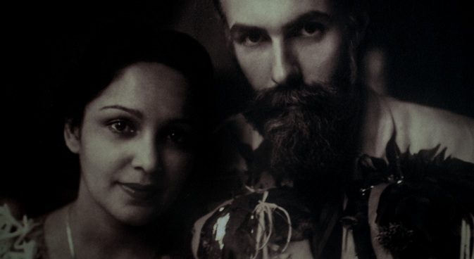 Svetoslav Roerich with his wife, Devika Rani. Source: Press Photo
