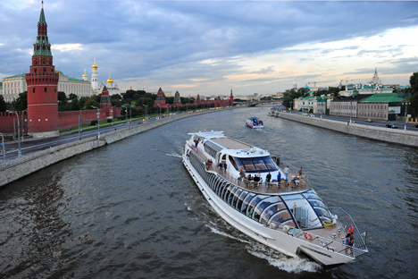 Boat restaurants and hotels first appeared in Moscow in 1991. Source: ITAR-TASS
