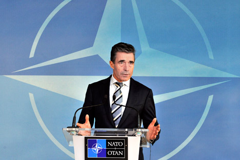 Russia took note of the NATO members' understanding of the need to implement the Geneva agreement. Source: AP
