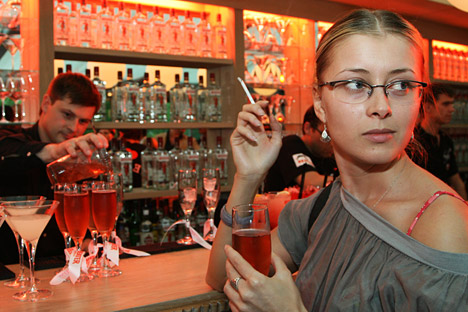 She won't be able to do that anymore in a restaurant. Source: PhotoXpress