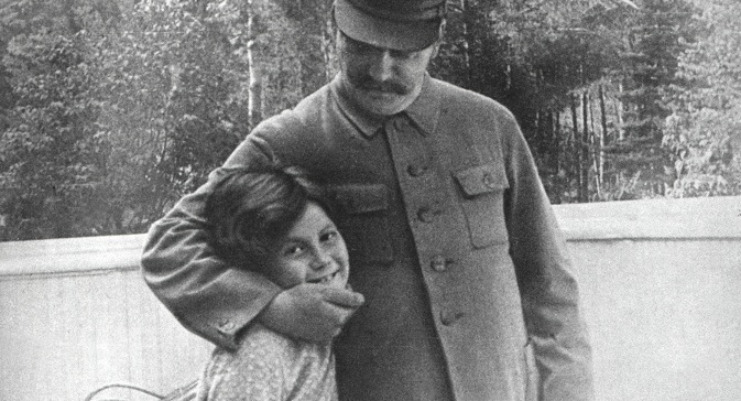 Svetlana Allilueva with her father. Source: Getty Images