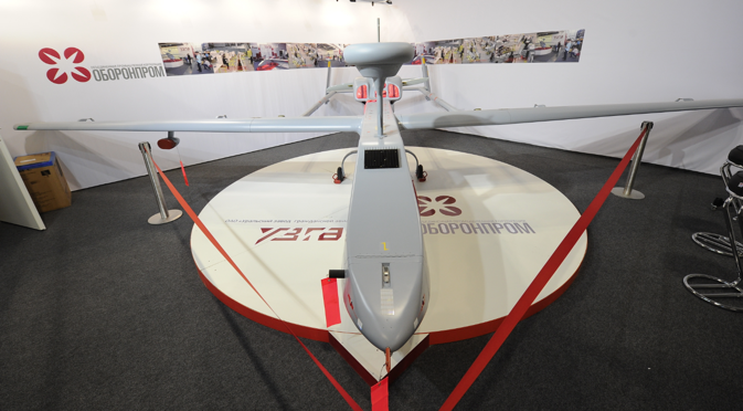 A drone at the stand of the Oboronprom corporation. Source: ITAR-TASS