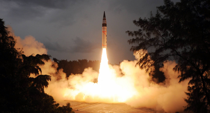 The Agni-5 (pictured above) may not be enough of a deterrent for India's foes. Source: Photoshot