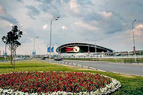 The Kazan Arena, the first of 12 stadiums for the 2018 World Cup. Source: Press Photo