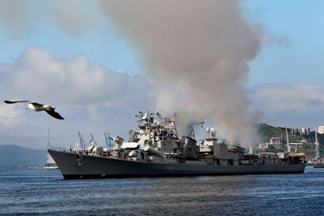 The Indra Naval exercises are taking place off the coast of Vladivostok. Source: RIA Novosti / Vitaliy Ankov