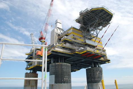 Russian energy giant Gazprom's Sakhalin-2 project focuses on the production of liquefied natural gas. Source: ITAR-TASS