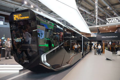 The R1 tram was unveiled on July 9. Source: Darya Kezina