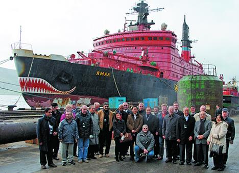 Representatives of the International Atomic Energy Agency in Murmansk. Source: Press Photo