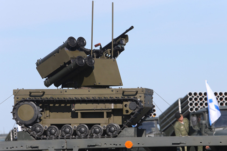 Exercises near Kaliningrad see the Platform-M combat robot make its debut. Source: RIA Novosti