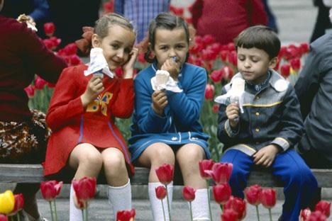 Children in the city park, 1979. Source: RIA Novosti