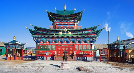 Tibet? No, that's Ivolginsky datsan in the city of Ulan-Ude. Source: Lori / Legion Media