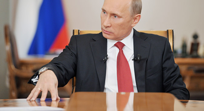 """Vladimir Putin: """"The BRICS countries have unique natural resources and a substantial technological, financial and industrial potential."""" Source: Alexey Nikolskiy / RIA Novosti"""