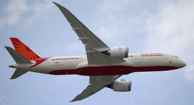 Air India will fly a Boeing 787 dreamliner between Delhi and Moscow. Source: AP