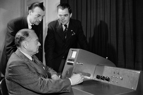 The inventor of cathode-ray tube transmission was born 125 years ago. Source: AP