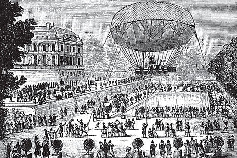 The Leppich's hot air ballon test. Source: UllsteinBild / Vostock Photo