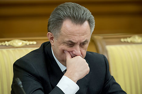 Vitaly Mutko did not shy away from condemning Russian athletes found doping. Source: Sergey Guneev / RIA Novosti
