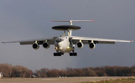 A-50 aircrafts are used to detect and track air targets and surface vessels, warn automated systems of command posts and to control airplanes in sighting. Source: BERIEV Aircraft Company
