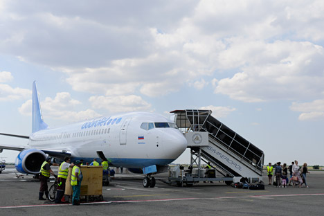 Dobrolet, Russia's only low-cost airline, has suspended its operations due to EU sanctions on August 3. Source: AP