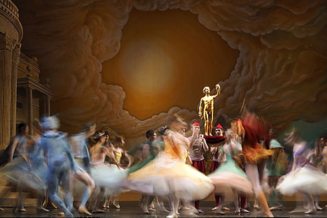 A scene from Sylvia ballet staged by Frederick Ashton as part of the 14th Mariinsky International Ballet Festival at Mariinsky Theatre. Source: Photoshot / Vostock Photo