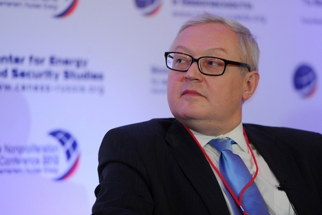 "Sergei Ryabkov: ""We support the multipolar world and seek the international law strengthening."" Source: Itar-Tass"