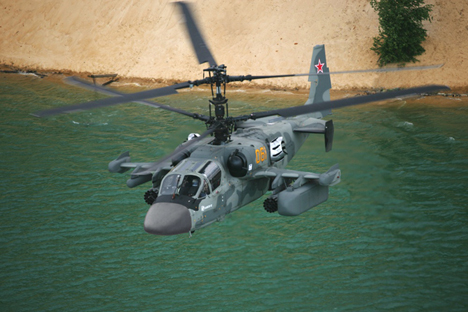 Ka-52k is the navalised derivative of the Ka-52 (photo). Source: www.russianhelicopters.aero
