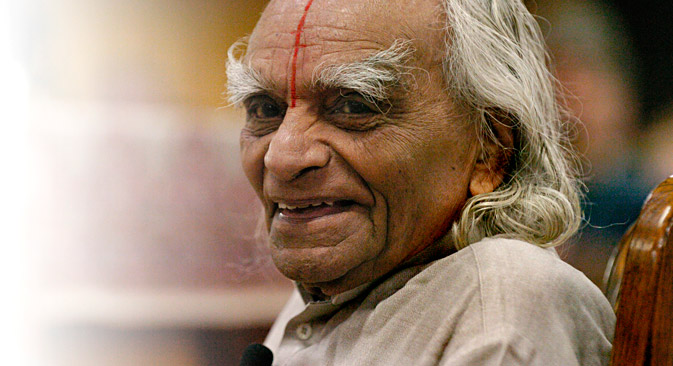 B.K.S. Iyengar passed away at the age of 96. Source: Getty Images / Fotobank