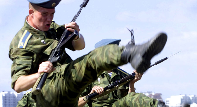 The Airborne Troops are the elite of the Russian Army. Source: Reuters