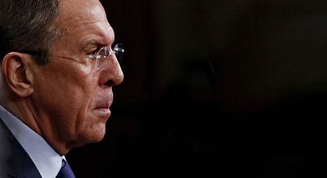 Sergei Lavrov, Russian Foreign Minister. Source: Photoshot / Vostock Photo