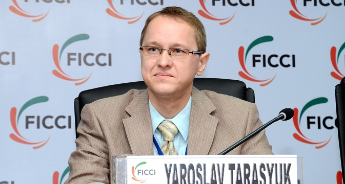 "Yaroslav Tarasyuk: ""The sanctions have led to an intensification of bilateral cooperation."" Source: Courtesy Trade Mission of Russian Federation in India"